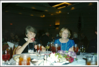 Ellen Warthen and Kathy Ezell at the Banquet