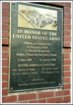 Oflag 64 Memorial Plaque mounted