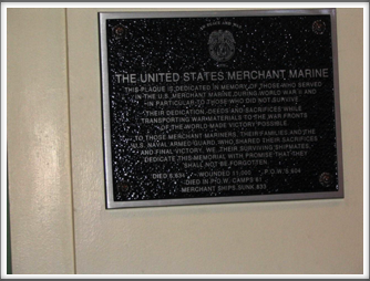 Soldiers And Sailors Memorial Hall: Merchant Marine Plaque
