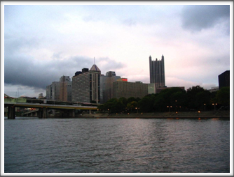 City of Pittsburgh At Dusk (from the riverboat)