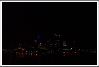 City Of Pittsburgh At Night (from the riverboat at the confluence of the Ohio, Allegheny and Monongahela Rivers)
