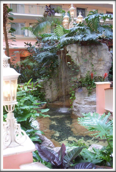 Embassy Suites:  Courtyard Waterfall & Stream