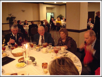Banquet: MSG Boughner, Joe Seringer, Phyllis Yardley & Bill Sharpe