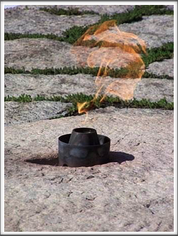 Arlington National Cemetery:  John F. Kennedy Eternal Flame