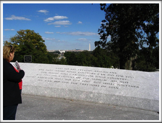 Arlington National Cemetery:  John F. Kennedy Quote
