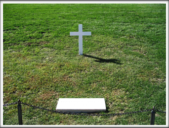 Arlington National Cemetery:  Robert F. Kennedy Gravestone and Wooden Cross