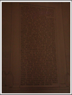 Lincoln Memorial: Gettysburg Address