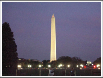 Washington Monument at Evening