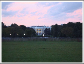 White House At Dusk