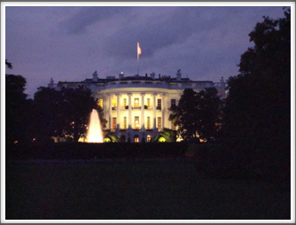 White House At Evening