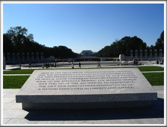 WWII Memorial: Quote