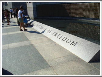 WWII Memorial: Freedom Quote