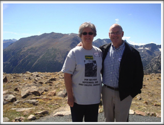 RMNP - Elodie & Bill Caldwell on Trail Ridge