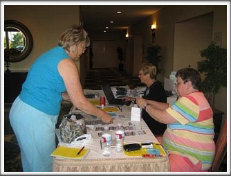 Registration Desk - Karen Rossi, Julie Gionfriddo & Janet Ellsworth