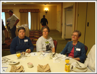 Saturday Breakfast - Ellsworth Family...Janet Ellsworth, Elodie Caldwell, Barbara Richins