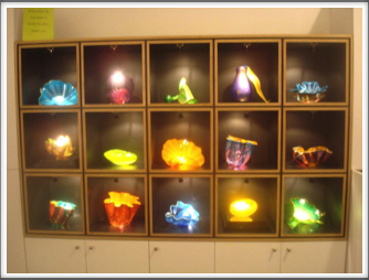 Chihuly Museum - glasswork display in the museum lobby