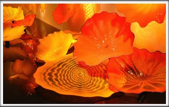 "Chihuly Museum - glasswork called ""Persians"" Google Photo"