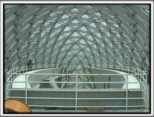 Dalí Museum - glasswork as seen from inside the museum walls - (Google Image - photos were not allowed within the museum itself)