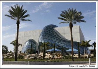 Dalí Museum - glasswork as seen outside the museum (Google Image)