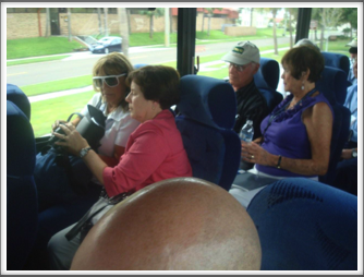 Kriegies and families on the bus to MacDill Air Force Base