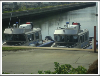 MacDill AFB Security Police Boats that patrol the waterway next to the base