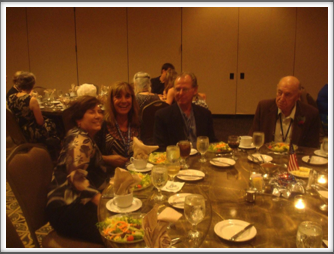 Maria Christmann, Rosa Lee, Pat Cochran, Sid Thal at the Banquet