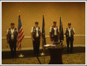 Memorial Service Color Guard:  Rolling Thunder motorcycle group (all war veterans)