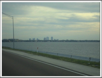 Tampa from the roadway