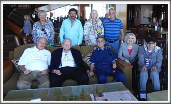 """Kriegy Group Photo"" with Pat Waters, Herm Littman, Jimmie Kanaya, Evie & Alan Dunbar, Lynn Kanaya, Dondino Melchiorre, Kay Cruise, Warren Jones"