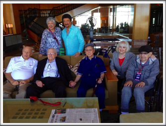 And another group photo with Pat Waters, Herm Littman, Jimmie Kanaya, Evie & Alan Dunbar, Lynn Kanaya, and Dondino Melchiorre