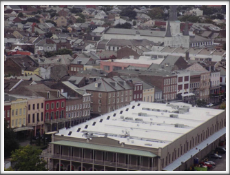 French Quarter - Jackson Square at upper right