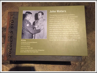 One of the exhibits at the Campaign of Courage Building/Road to Berlin - our own Kriegy John Waters, Pat Waters' father