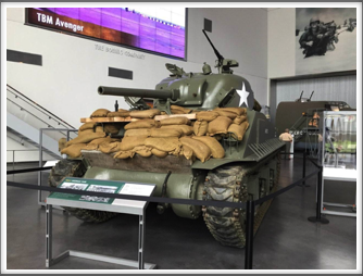 Sherman tank displayed in the US Freedom Pavilion/Boeing Center at the WWII Museum