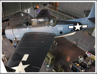 SBD-3 Dauntless dive bomber - displayed at the US Freedom Pavilion/Boeing Center