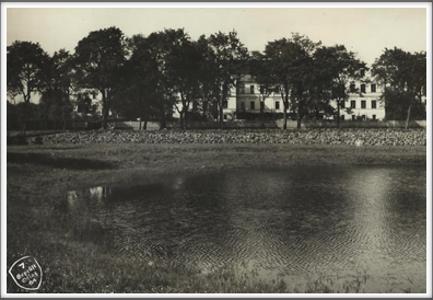 1928 pond used by  Oflag 64 ice skaters during their captivity, located across the street from the main camp