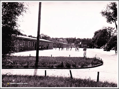 "1940s sports activity area viewed from the ""White House"""