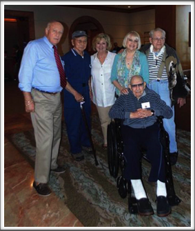"2015 New Orleans Reunion -  ""Kriegy Group Photo"" with Pat Water, Kriegy Jimmie Kanaya, Martha Waters, Evie & Kriegy Alan Dunbar, Kriegy Herm Littman"