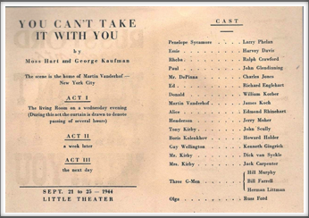 "September '44 - ""You Can't Take It With You"""