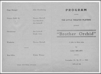 "November '43 -  ""Brother Orchid"""
