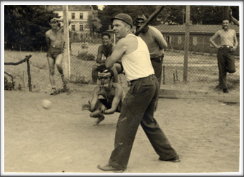 October 7, 1944 American POWs playing  baseball
