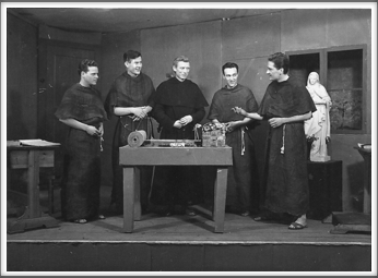 "November '43 -  ""Brother Orchid"" l-r:  Wilbur Sharpe, James Bickers, Verris Hubbell, Al Casner, Frank Maxwell"