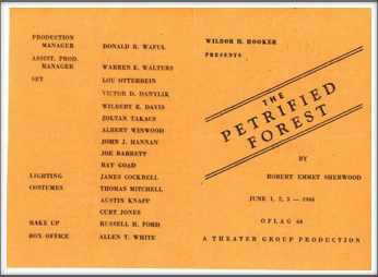 "June '44 - ""The Petrified Forest"""