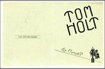 "Tom Holt ""In Concert"" Program Unknown Date"