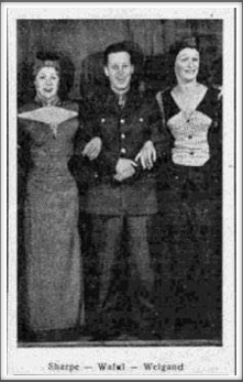 "Wilbur Sharpe, Don Waful, and Robert Weigand in a ""yet unidentified"" production."