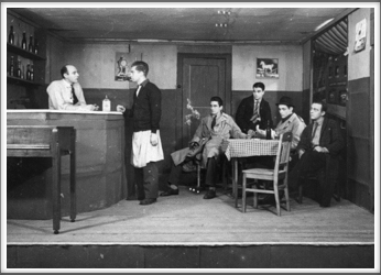 "November '43 -  ""Brother Orchid"" l-r: Gabriel Gever, Frank Roy, Bob Lobb, Jim Sherman, Ormond Hessler, Jim Koch"