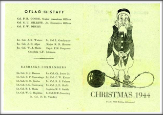 Oflag 64 Staff Christmas 1944: Seymour Bolten collection