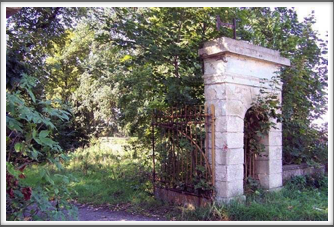 The entrance gate to the estate.