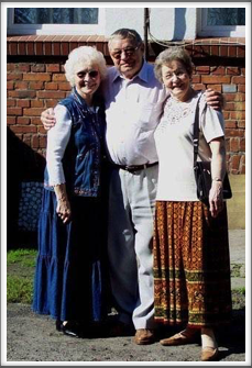 Stanislaw with Jackie and Charlotte. He really enjoyed remembering all the events of the time that the men spent with his family. We felt very blessed to meet him.