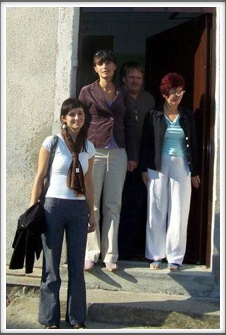 Second from left, Kamila Czechowska, museum director. Far left, is Anna Duda, friend of Kamila, who spoke English, - the man in the back is the newspaper photographer, and the lady on the right is a helper at the museum.