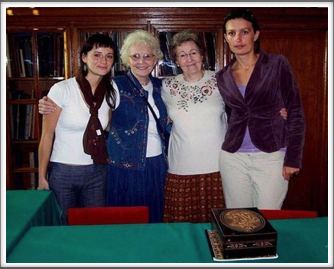 Left to right, Anna, Jackie, Charlotte, and Kamila. The Museum has a nice collection of letters, stories, e-mails, etc. from former prisoners. They also have a few pieces of memorabilia from survivors and their families.